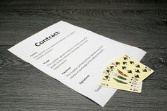 Ilustração conceptual de ganhar o contrato Imagem de Stock Royalty Free