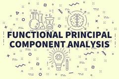 Ilustração conceptual do negócio com o princ funcional das palavras ilustração stock
