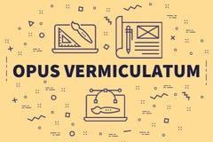 Ilustração conceptual do negócio com o vermiculatu do opus das palavras ilustração royalty free