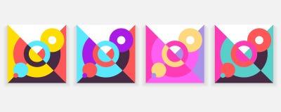 Ilustração conceptual do projeto moderno Cartaz abstrato do estilo da tendência da tampa da geometria Imagens de Stock Royalty Free