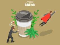 Ilustração conceptual do vetor isométrico liso da ruptura de café Ilustração Royalty Free