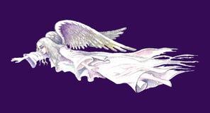 Ilustração conservada em estoque do anjo de guardião Fotos de Stock