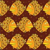 Ilustração conservada em estoque do vetor: peixes sem emenda Fotos de Stock Royalty Free