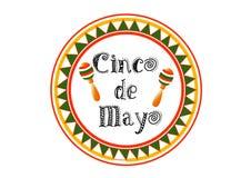 Ilustração conservada em estoque livre dos direitos do vetor do EPS 10 do fundo da estamenha de Cinco De Mayo para o cartão, a ilustração stock