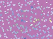 Ilustração cor-de-rosa abstrata criativa com estrelas Efeito de intervalo mínimo manchado Clipart do vetor Imagens de Stock