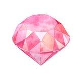 Ilustração cor-de-rosa da forma da gema da aquarela Foto de Stock Royalty Free