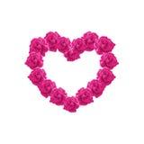 Ilustração cor-de-rosa do coração das rosas Fotos de Stock Royalty Free