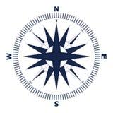 Ilustração cor-de-rosa do vetor do vento Ícone náutico do compasso isolado no fundo branco Foto de Stock Royalty Free