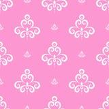 ilustração cor-de-rosa sem emenda do fundo do teste padrão Fotos de Stock