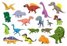 Ilustração cretácea do vetor dos desenhos animados dos dinossauros foto de stock royalty free