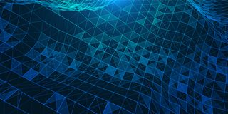 Ilustração criativa com baixa estrutura poli da conexão Imagem de Stock