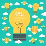 Ilustração criativa da ideia com lâmpada e lápis Imagem de Stock