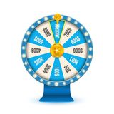 Ilustração criativa do vetor da roda de giro da fortuna 3d Jackpot afortunado da vitória da roleta no projeto da arte do casino G ilustração royalty free