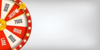 Ilustração criativa do vetor da roda de giro da fortuna 3d Jackpot afortunado da vitória da roleta no projeto da arte do casino S ilustração royalty free