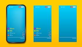 Ilustração criativa do vetor de fluir a vídeo em direto no smartphone isolado no fundo transparente Projeto da arte social ilustração do vetor