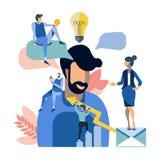Ilustração criativa do vetor do trabalho da equipe dos povos ilustração royalty free