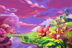Ilustração criativa e arte inovativa: Versão silenciosa da obscuridade do monte