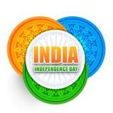 Ilustração criativa para o Dia da Independência indiano Imagens de Stock