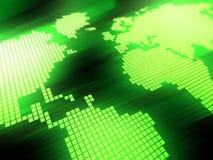 Fundo verde do mapa ilustração stock
