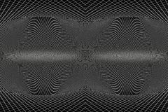 Ilustração 3d artística abstrata do modelo original da curva do espaço de acordo com a física ilustração royalty free