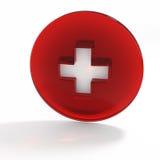 ilustração 3D Bandeira suíça pharmacy Fotos de Stock Royalty Free