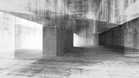 ilustração 3d com interior concreto do grunge Fotografia de Stock