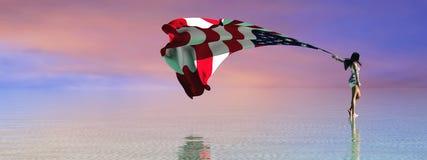 ilustração 3d da bandeira ilustração do vetor