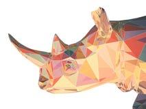 ilustração 3D da cabeça lisa do rinoceronte Fotos de Stock