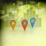 ilustração 3d da carta de negócio colorida do anel Imagens de Stock