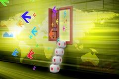 ilustração 3d da carta de negócio colorida do anel Foto de Stock Royalty Free