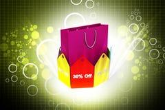 ilustração 3d da carta de negócio colorida do anel Fotos de Stock