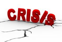 rachadura da terra da crise 3d ilustração do vetor