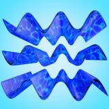 ilustração 3D da estrutura tridimensional da onda Fotos de Stock Royalty Free