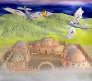 ilustração 3D da guerra de ar do steampunk ilustração stock