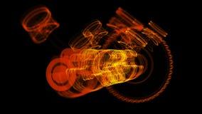 ilustração 3D da molécula do ferro feita de aço inoxidável Fotografia de Stock Royalty Free
