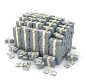 ilustração 3d da pilha dos dólares sobre Foto de Stock Royalty Free