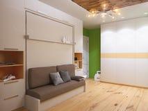 ilustração 3d da sala de visitas do design de interiores Foto de Stock