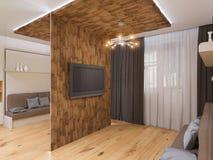 ilustração 3d da sala de visitas do design de interiores Foto de Stock Royalty Free