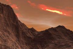 ilustração 3D da superfície do planeta Marte ilustração do vetor