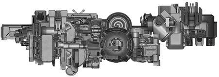 ilustração 3d da tecnologia abstrata do equipamento industrial Imagem de Stock Royalty Free