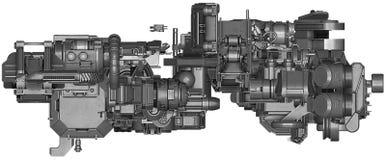 ilustração 3d da tecnologia abstrata do equipamento industrial Imagens de Stock
