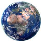 ilustração 3D da terra Fotos de Stock Royalty Free