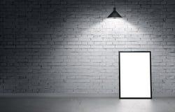 ilustração 3d da zombaria do cartaz acima no interior sujo Imagens de Stock