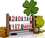O dia de St Patrick - 3D Foto de Stock