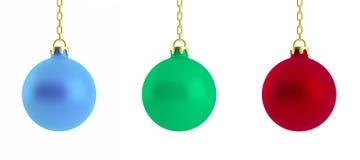 ilustração 3d de bolas do Natal Fotografia de Stock