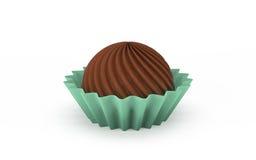 ilustração 3d de doces de chocolate Imagens de Stock
