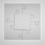 ilustração 3D de Grey Puzzles Imagens de Stock
