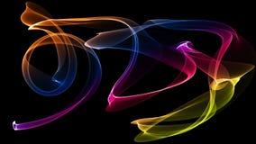 a ilustração 3D de ondas coloridas olha como o fumo Imagem de Stock Royalty Free