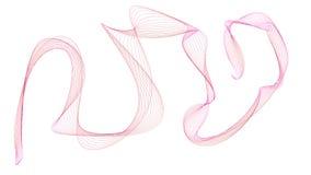a ilustração 3D de ondas coloridas olha como o fumo Foto de Stock Royalty Free