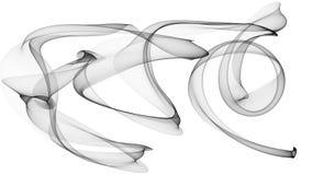 a ilustração 3d de ondas pretas olha como o fumo Imagens de Stock